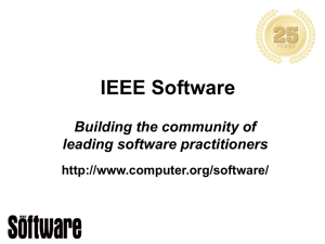IEEE Software ing the community leading software practitioners