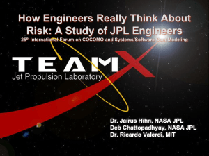 How Engineers Really Think About Risk: A Study of JPL Engineers
