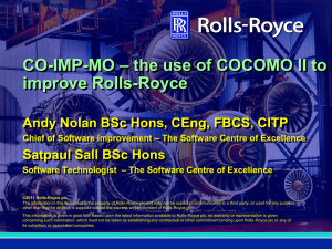 CO-IMP-MO the use of COCOMO II to improve Rolls-Royce