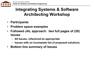 Integrating Systems & Software Architecting Workshop