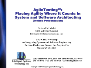 AgileTecting™: Placing Agility Where It Counts In System and Software Architecting (Invited Presentation)