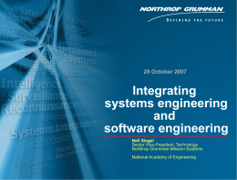 Integrating systems engineering and software engineering