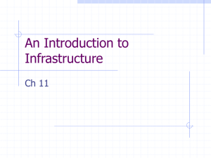 Introduction to Data Warehouse Infrastructure (Kimball Ch 11)
