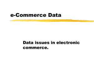 Data Requirements for e-Commerce 02/16/00