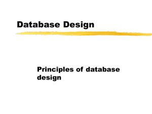 Design Issues for Relational Databases 02/23/00