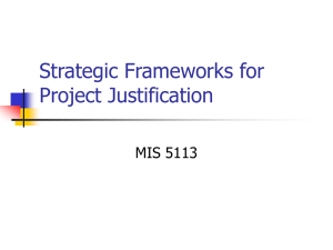 Strategic Frameworks for Project Justification