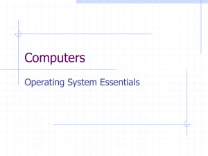 Chapter 11, Basics of Operating Systems