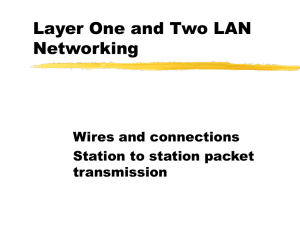 LAN's and LAN Technology (Ref Chapters 8 and 9)