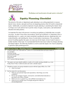 Equity Core Teams Planning Checklist