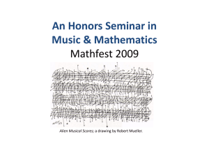 An Honors Seminar in Music and Mathematics
