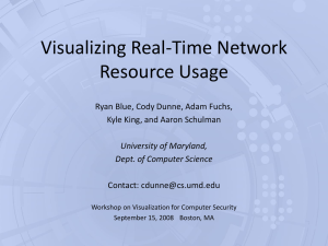 Visualizing Real-Time Network Resource Usage Ryan Blue, Cody Dunne, Adam Fuchs,