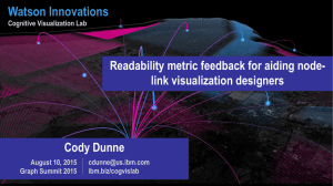 Watson Innovations Readability metric feedback for aiding node- link visualization designers Cody Dunne