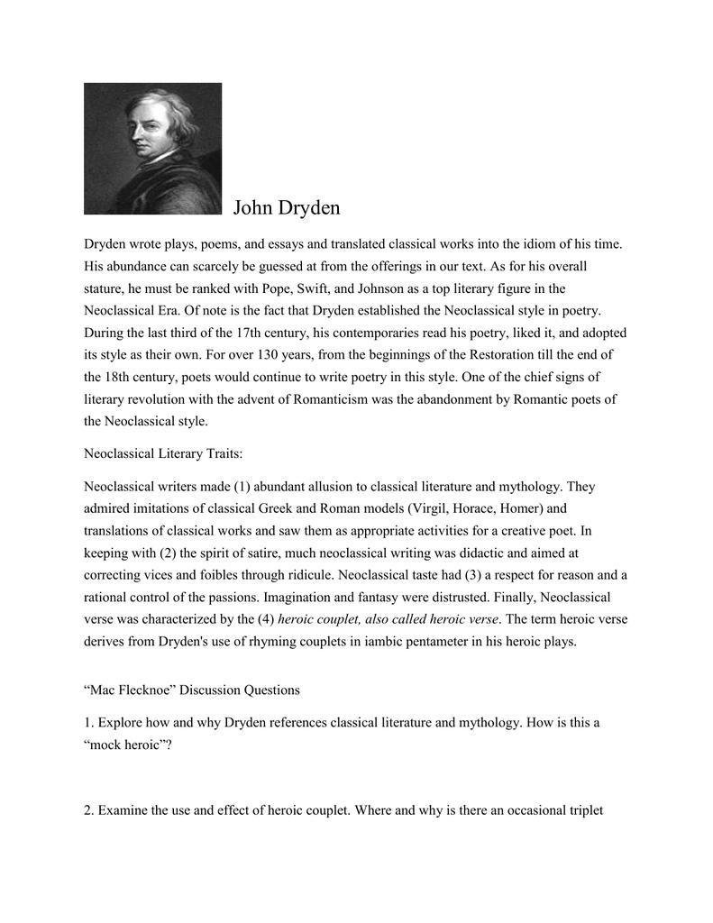 dryden essay of dramatic poesy text pdf