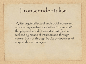 Trascendentalism Powerpoint