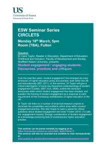 ESW Seminar Series CIRCLETS  Monday 18
