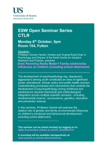 ESW Open Seminar Series CTLR  Monday 6