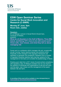 ESW Open Seminar Series  Centre for Social Work Innovation and Research (C-SWIR)