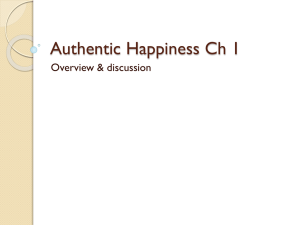 overview of Authentic Happiness, Chapter 1