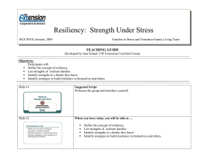 Family Resiliency Teaching Unit