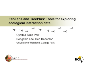 EcoLens and TreePlus: Tools for exploring ecological interaction data Cynthia Sims Parr