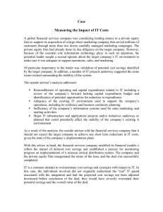 Case  Measuring the Impact of IT Costs