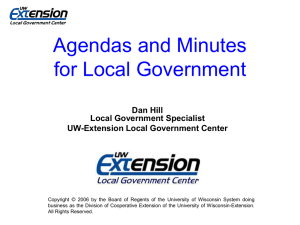 Agendas and Minutes for Local Government
