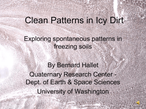 Clean Patterns in Icy Dirt