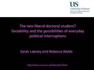 The neoliberal doctoral student: LEANEY WEBB [PPT 906.50KB]