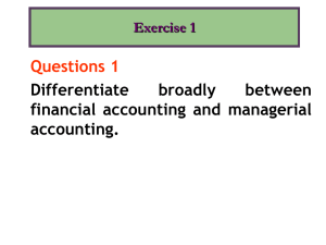 Questions 1 Differentiate broadly between