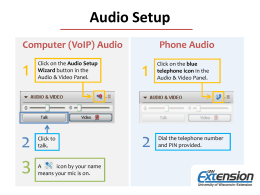 1 2 Audio Setup Computer (VoIP) Audio