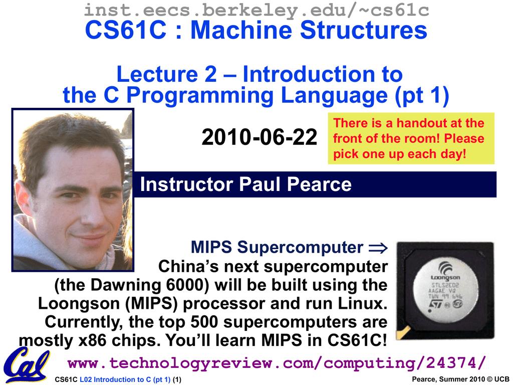2010SuCS61C-L02-pear