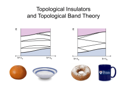Topological Insulators and Topological Band Theory E L