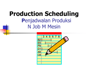 Production Scheduling P N Job M Mesin