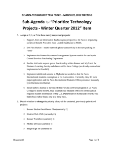 Prioritize Technology Projects - Winter Quarter 2012