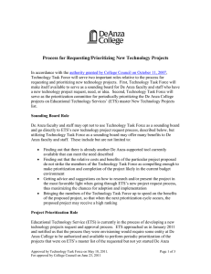 Process for Requesting New Technology Projects