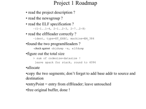 Project 1 Roadmap