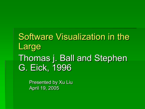 Software Visualization in the Large Thomas j. Ball and Stephen G. Eick, 1996