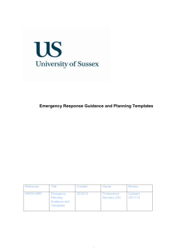 Emergency Planning Guidance and Template [DOC 66.50KB]