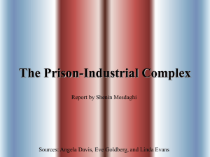 The Prison-Industrial Complex Report by Shenin Mesdaghi