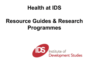 Health at IDS [PPT 798.50KB]