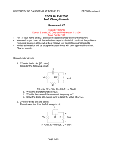 EECS 40, Fall 2006 Prof. Chang-Hasnain  Homework #7