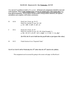 MATH 103 - Homework #6 - Due Wednesday, 10/17/07