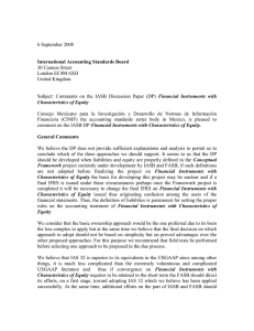 RESPONSE TO IASB DISC PAPER ON FINANC INSTS WITH CHARACTS OF EQUITY.doc