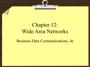 Chapter 12: Wide Area Networks Business Data Communications, 4e
