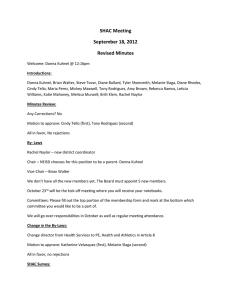 SHAC Meeting September 18, 2012 Revised Minutes