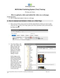 How to upload and embed videos on web pages
