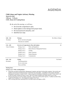 Meeting Agenda and Minutes