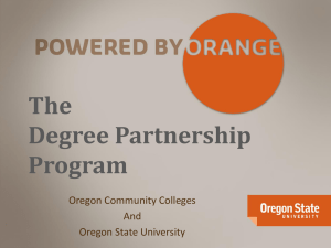 Degree Partnership Program Overview