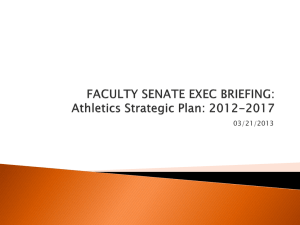 Athletics Strategic Plan: 2012-2017