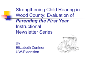Strengthening Child Rearing in Wood County: Evaluation of Instructional Newsletter Series